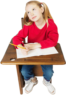 Education Thinking little girl sitting at classroom desk 1 - 7 Reasons You Should Tell Others About Our Agency